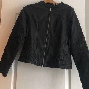 Jackets & Blazers - BLACK LEATHER JACKET 🏍🏍